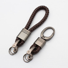 BLA High Grade Hand Woven Keychain Men Women Leather Car Bag Key Ring Key Chain key holder Keyring Pendant Gift Accessories Z30 цена и фото