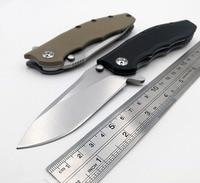 JSSQ Ball Bearing Folding Knife ELMAX Blade Flipper Tactical Pocket Knives Camping Hunting Survival Knife EDC Outdoor Tools OEM