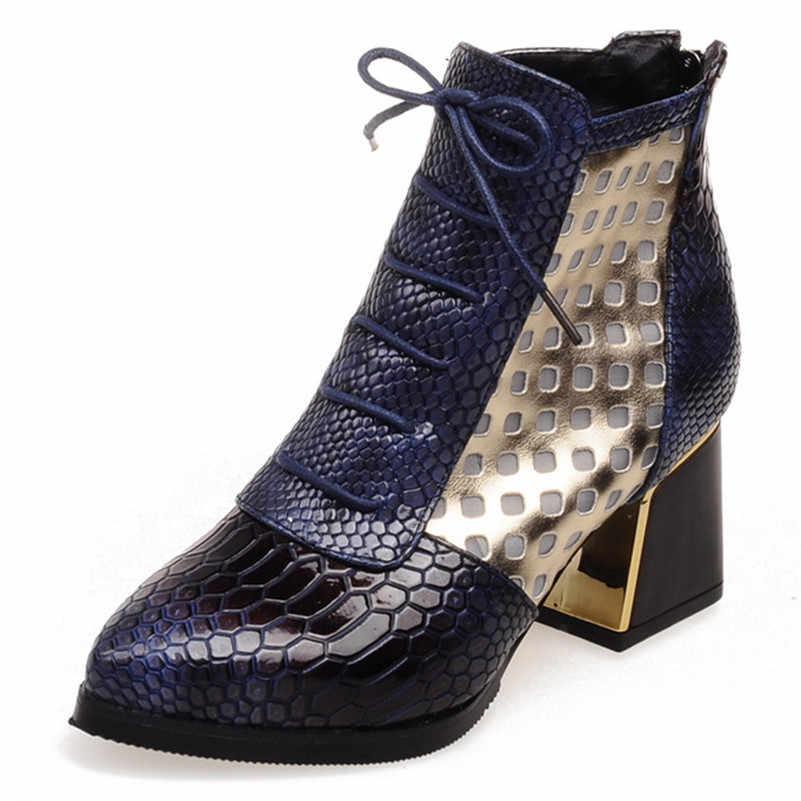 FEDONAS Yeni Moda Karışık Renkler Pu Deri Kadın yarım çizmeler parti ayakkabıları Kadın Hayvan Baskı Kadın kısa çizmeler Büyük Boy Ayakkabı