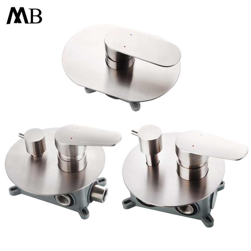 Stainless Steel Shower Faucet Hot and Cold Water Mixer Valve Wall Mounted Shower Switch Control Bathroom
