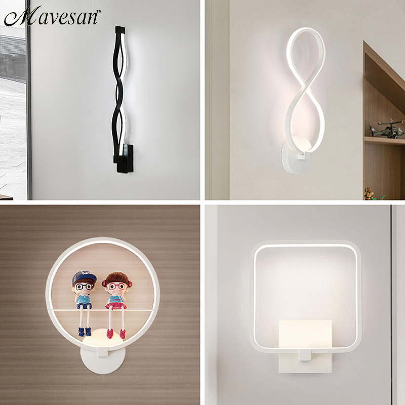 Modern LED Wall Lamps For Bathroom Bedroom Sconce lights Indoor Lighting Lamp AC85-265V LED Wall Light Indoor Lighting luxurious crystal wall lamp metal plating modern wall light hotel ideas wall lights indoor modern wall lamps art deco lighting
