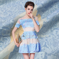 Crown jacquard embroidery printed organza fashionable dress fabric spring and summer dress fabric GH02