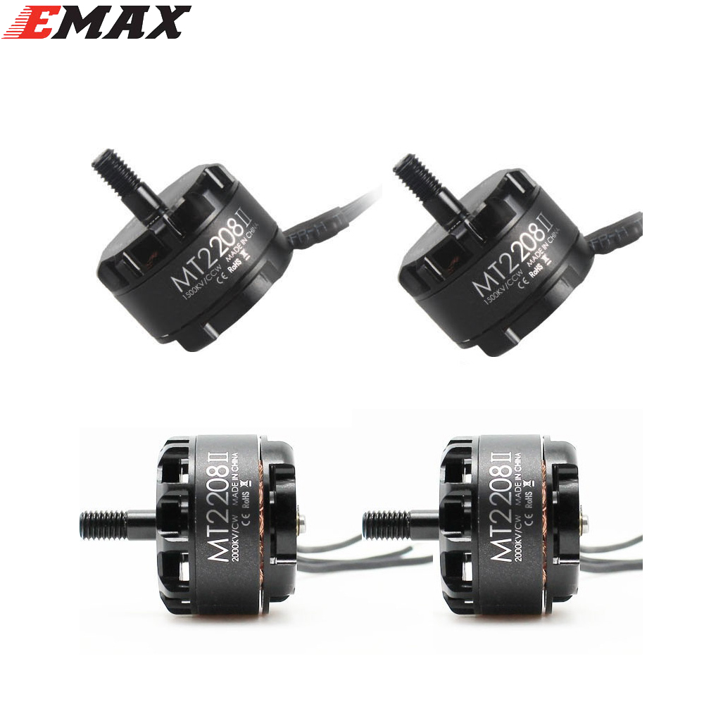 Original EMAX MT2208 II 1500KV/2000KV CW CCW Brushless Motor for RC QAV250 F330 Multicopter(Include the retail box) original emax rs1104 5250kv brushless motor t2345 tri blades propellers cw ccw props for 130 rc brushless racer drone q20400