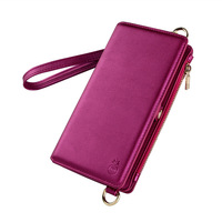 New For iPhoneXS MAX mobile phone shell wallet mobile phone holster multi function protective cover Messenger bag female ST3