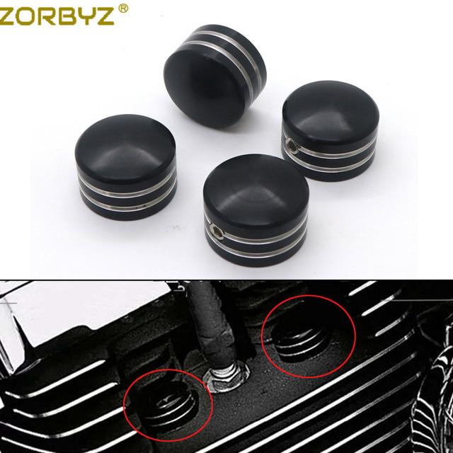 ZORBYZ Black / Chrome Spark Plug Head Bolt Cap Cover Plug For Harley Twin Cam Touring 1999-2017