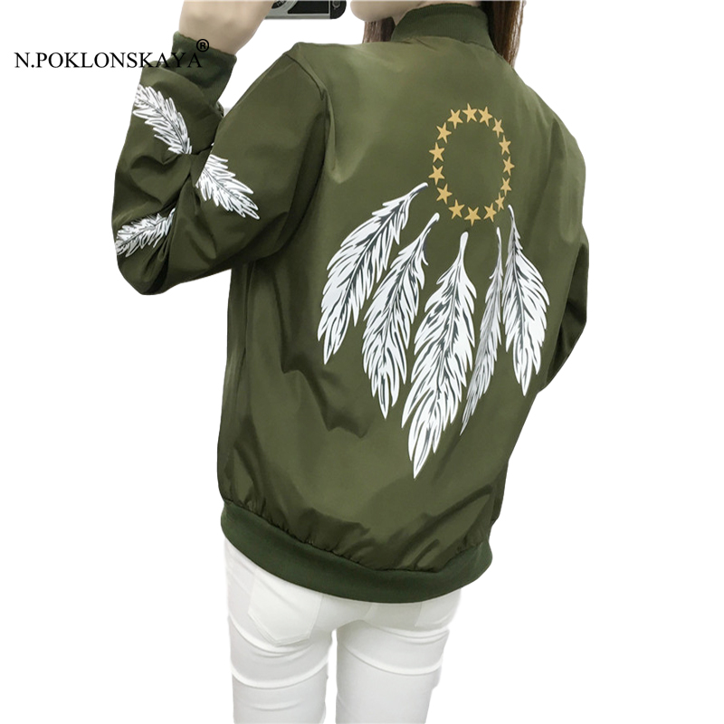 Korean Fashion Women Baseball Jacket Army Green Bomber Jackets Biker outwear Harajuku Casual Loose CoatFemale outerwear tops