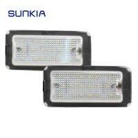 2 unids/set luz LED de matrícula SUNKIA para FIAT 500 500C 2009-2015 estilo de coche LIBRE DE ERRORES Canbus blanco puro