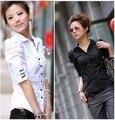 Blusa de las mujeres Más El Tamaño L-3xl 4xl 5xl (busto 120 cm) 2014 Nueva Hembra Del Verano de la Camisa de Algodón Ropa de Mujer Camisas xxxl xxxxl xxxxxl