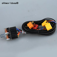 shhworldsea Universal H4/9003 Headlight Booster Wire Cable Harness Connector Fuse Socket 12V 40A Light Diagnostic tool