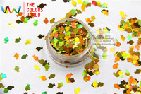 TCA200 Laser Gold Color Goldfish 6MM Size Glitter Dust Specular Luster Glitter For Nail Tatto Art