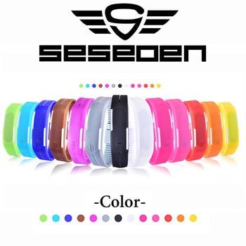2016 New Fashion Touch Screen LED Bracelet Digital Watches Men Women Wrist Watch Sport Wristwatch Silicone Watch часы электронные ручные