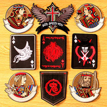 DIY Poker Punk Patch For Clothing Embroidered Patches For Clothing Iron On Patches On Clothes Biker Patch Black Emperor Badges hot sale mixed 14pcs full set for bandidos mc embroidered patch iron on jacket leather vest rider punk full back size patch g046