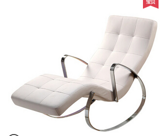 Leisure rocking chair. The elderly leisure chair. Contracted and fashionable deck chair.