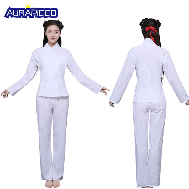 78607ee48 Women Chinese Hanfu Pajamas Traditional Tang Clothing Ancient National Sleepwear  Han Dynasty Clothing Cotton Stage Dance Cosplay