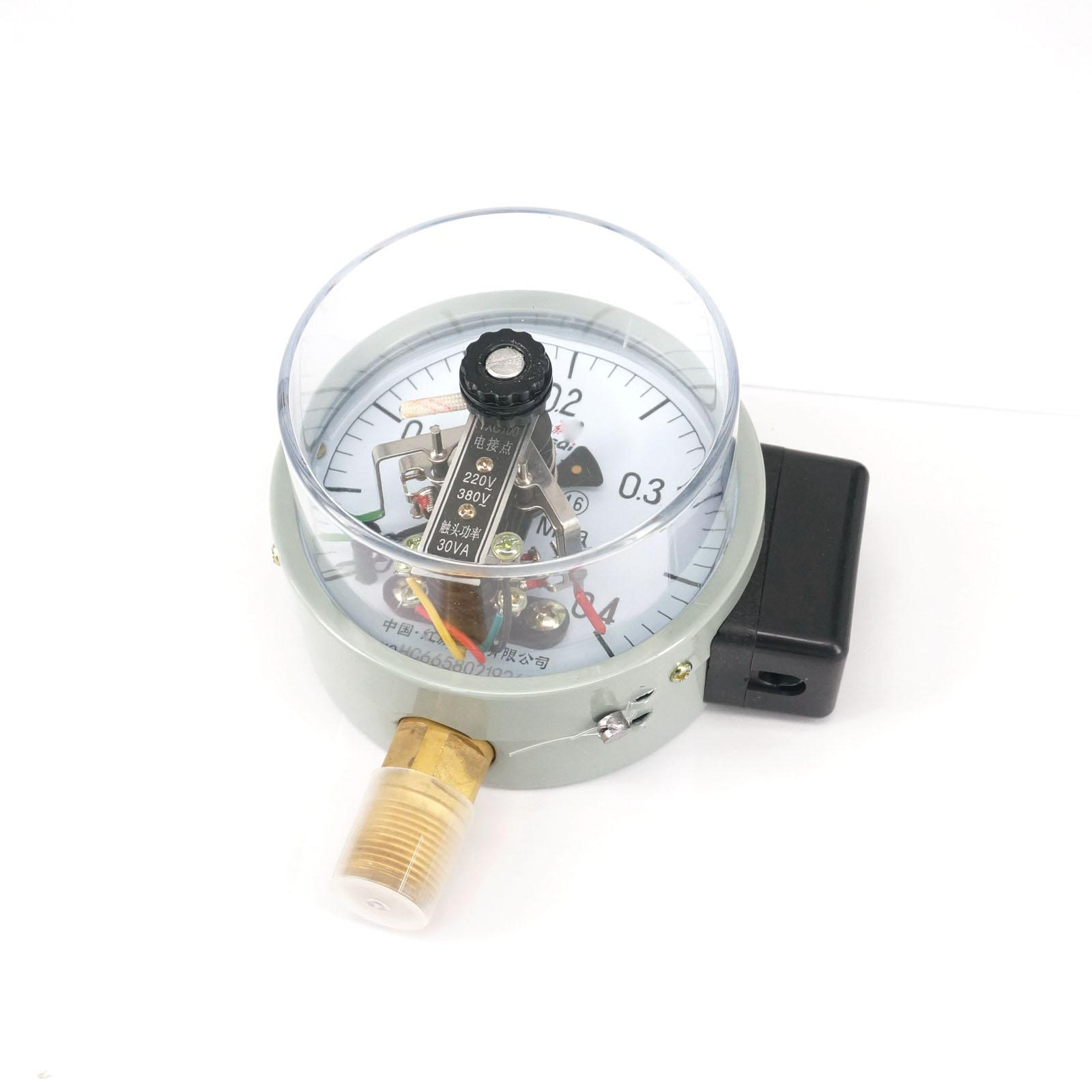 0-0.4Mpa YXC Dial Diameter 100mm Magnetic Auxiliary Electric Contact Pressure Gauge Radial Mount Pneumatic Parts y 150 150mm radial mount 0 1 25mpa air compressor pressure gauge dial diam pneumatic