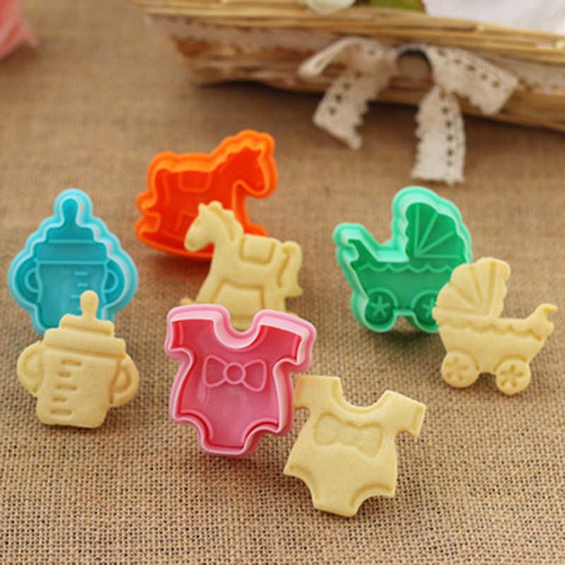 16 形状 3D プラスチッククッキープレス Diy 金型カッターケーキビスケットフォンダンケーキキッチン調理ツールケーキ Decoraiton