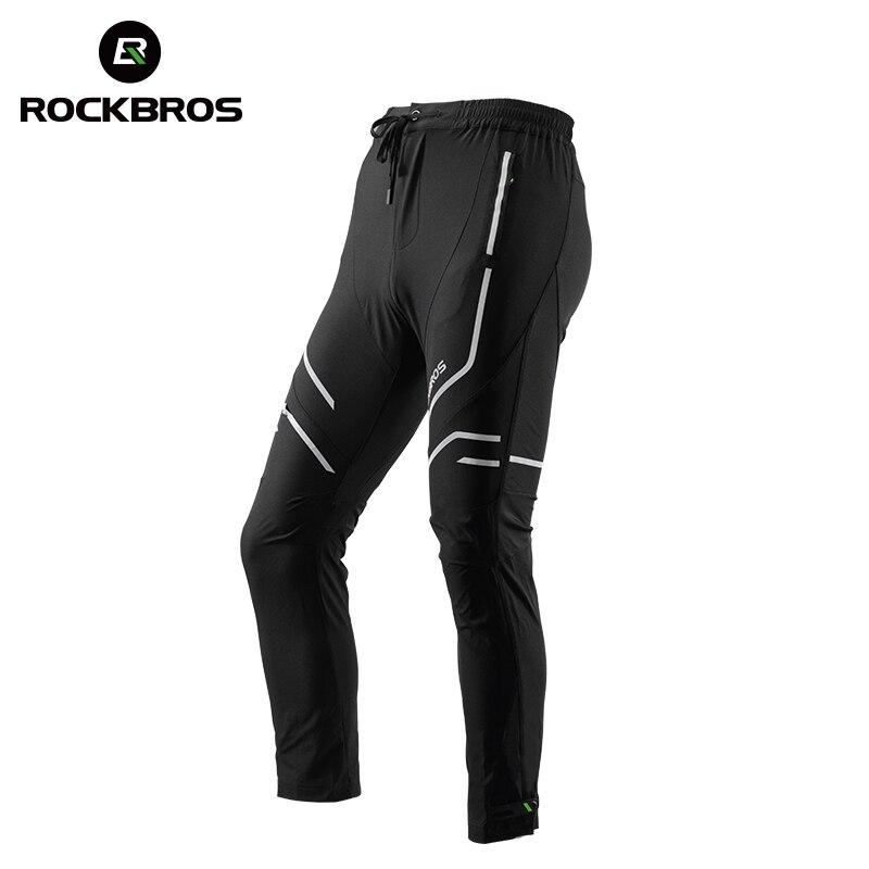 ROCKBROS Cycling Bike Sport Pants Breathable Quick Dry Cycling Pants Trousers Tight Reflective Riding MTB Bike Bicycle Equipment cycling bicycle bike riding capri pants black size l