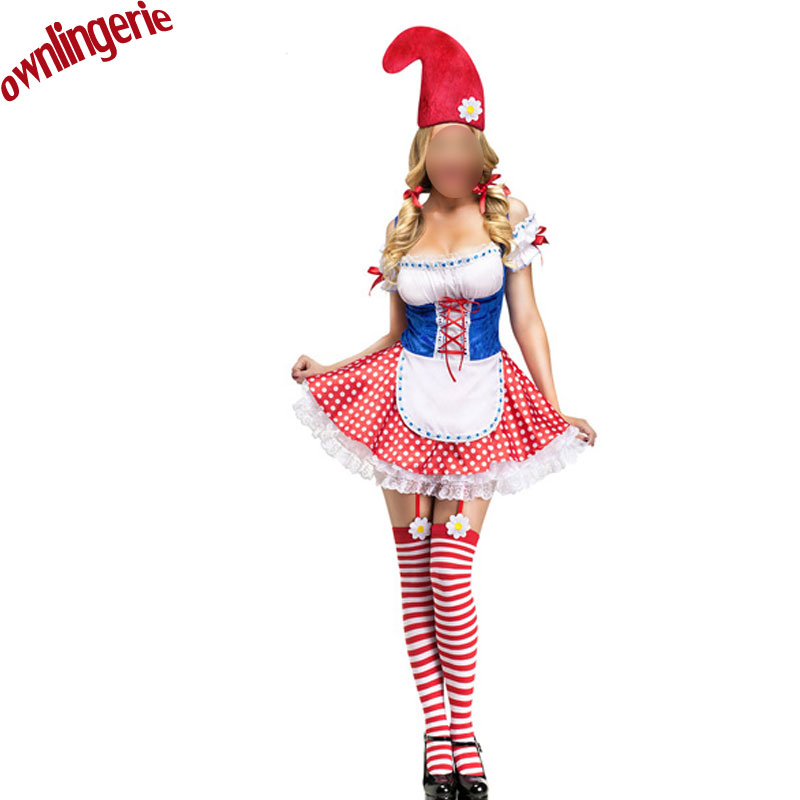 Sexy Snow Flake Witch Christmas Elf Costume Santa Suit Night Maid Gilrs Costumes New Year Parties Sexy Costumes with hat
