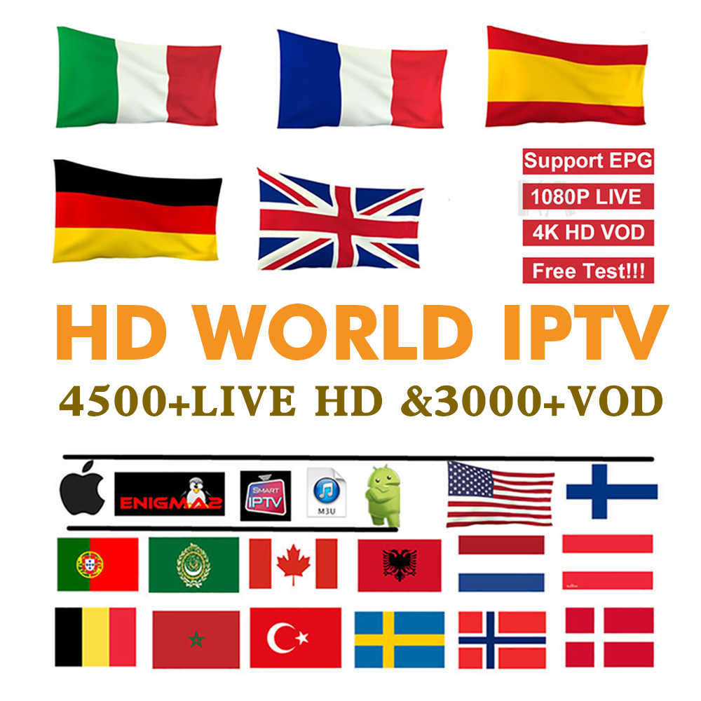 12 месяцев испанско-португальский IP ТВ подписки 500 + HD LIVE ТВ для Испании Portuga IP ТВ включают одиннадцать Спорт для enigma2 M3U smart ТВ