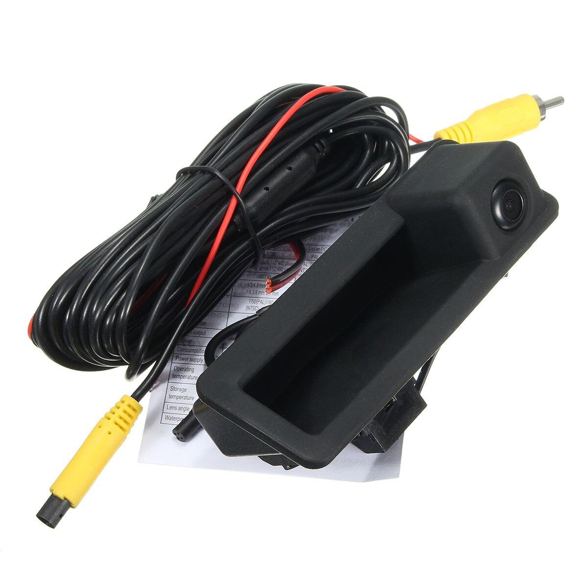 HD CCD tronco interruptor mango vista trasera cámara de marcha atrás para BMW 3/5/X5 SeriesE90 E60 E70 coches modelo impermeable de 170 grados