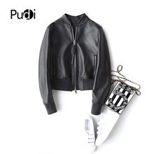 PUDI A22293 2018 New Fashion women real sheep leather ball coat lady genuine leather Leisure Motorcycle Jacket fall/winter coat