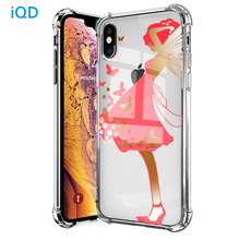 IQD Phone Case For iPhone X XS Max XR 7 8 6 6S Plus Shell Clear Pattern Cases Ultra-Thin TPU Bumper Shockproof Protective Cover