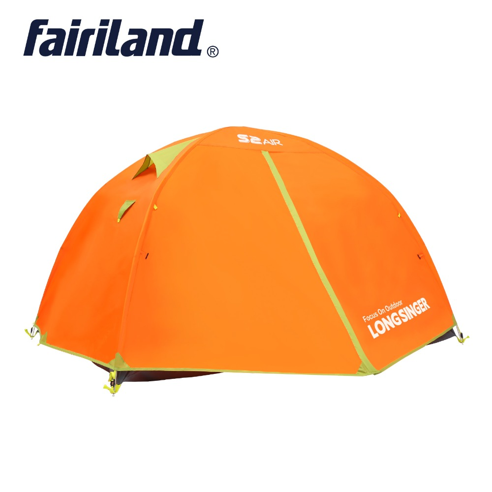 Camping Tent Outdoor Tent 2-3 persons One Bedroom Double Layers 3 Season Waterproof Windproof Professional Camp Tourist large double layers folding umbrella windproof rain gear