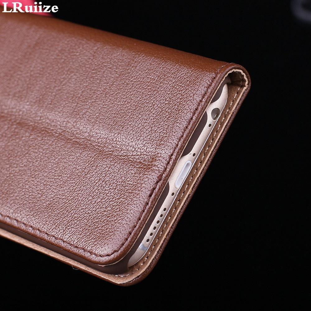 LRuiize iphone 6s 6 Plus Təbii Orijinal İnək Dəri Lüks Ultra - Cib telefonu aksesuarları və hissələri - Fotoqrafiya 5