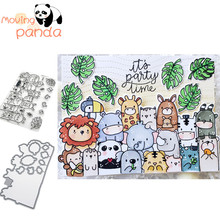 moving panda JC391 SUMMER SPLASH Metal Cutting Dies and stamps DIY Scrapbook paper craft album card punch knife art cutter die
