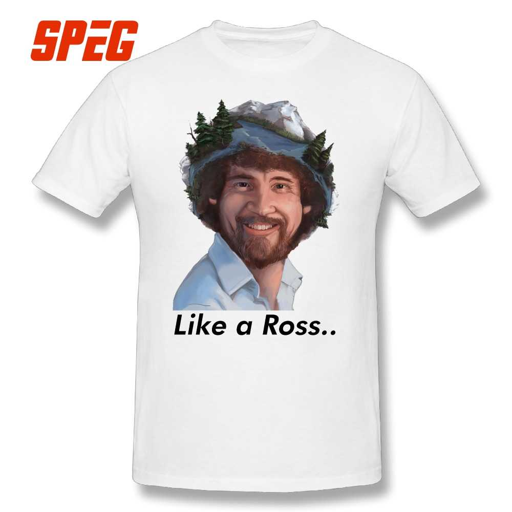 c5a7c7cab T Shirts Bob Ross No Mistakes Just Happy Accidents Artist Tee Shirts Cotton  Short Sleeve T