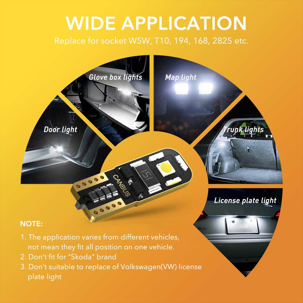 T10 LED W5W Auto Interior LED Bohlam CANBUS untuk Kia Sportage Jtsl Rio 3 4 K2 K5 KX5 Sorento Jiwa cerato Picanto Optima K3 Forte