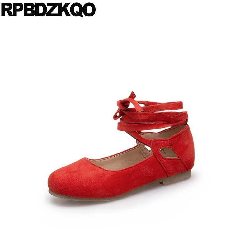 Soft Ballet Flats Women Red Wine Size
