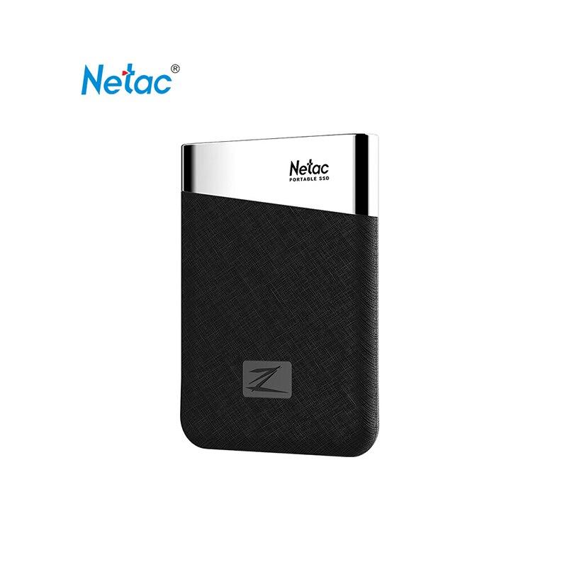 Netac Z6 Type C USB 3.1 Portable SSD Max vitesse d'écriture jusqu'à 400 mo/s Mini taille lumière 240GB 480GB 960GB disque SSD externe