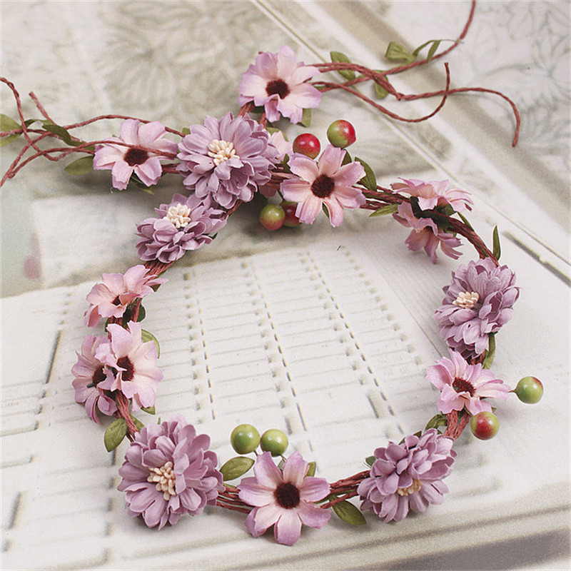 Beautiful DIY Flower Wedding Bridal Vine And Berry Tiara headbands Prom party headpieces Christmas wreaths Hair Jewelry Gifts