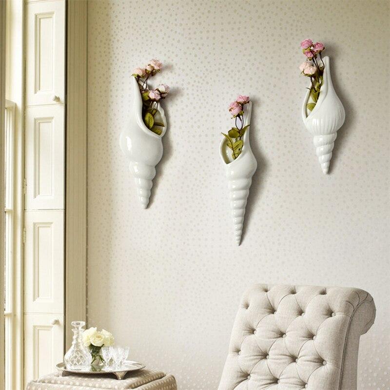 Vazo dekorative mur varur vazo dekorative të pastra lule të bardha - Dekor në shtëpi - Foto 5