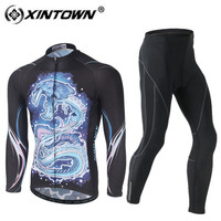 XINTOWN Cycling Jersey Set 2018 Long Sleeve Winter Thermal Fleece Warm Bike Bicycle Clothing Kits Clothes