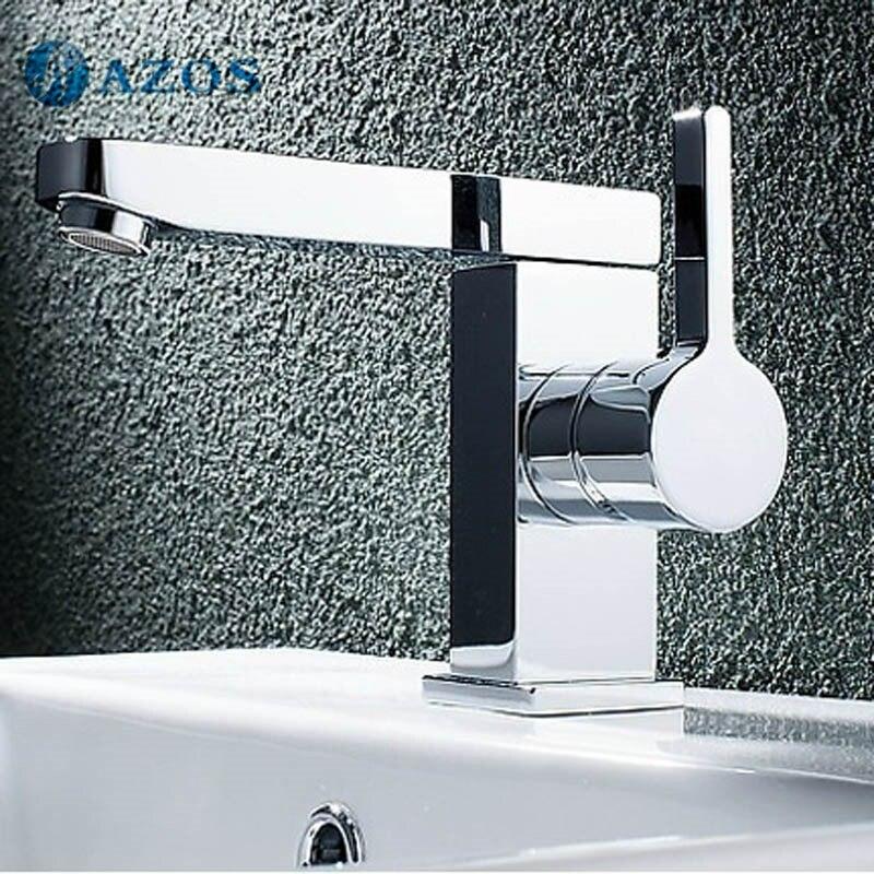 azos bathroom basin tap brass chrome polish color single hole deck mount hot cold mixer toilet sink faucet furniture mpdkz198 bathroom basin furniture