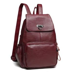 Image 2 - Genuine Leather Backpack Bags For Women 2019 Large Capacity Women Backpack Waterproof  Youth School Bags