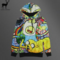 Aelfric Eden Men's 3D Print Adventure Time Finn Jack Sweatshirt Harajuku Style Funny Kawaii Cartoon Hoodies Pullovers Clothes