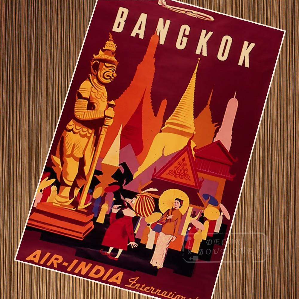 Visit Bangkok Thailand Pop Art Travel Poster Vintage Retro ...