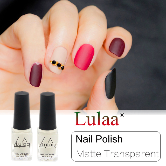 Lulaa Newest 6ml Magic Super Matte Nail Polish Transparent Nails Art