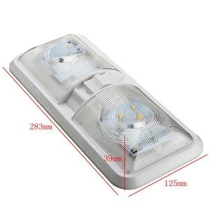 Image 2 - 18LED интерьер автомобиля Купол свет потолочная лампа LED лампа для чтения для 12V морской яхты RV Camper мотор дома