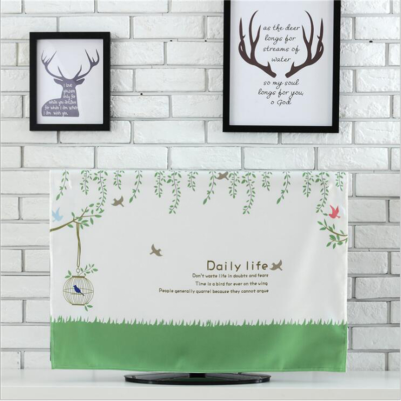 Fashion LCD TV Dust Cover Practical Parlor Flat Screen TV Dust Proof Cover Pouch Organize Storage Bag