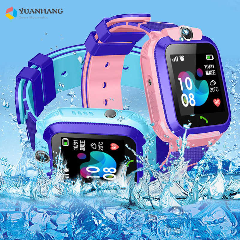 2019 New IP67 Waterproof Smart Accurate Tracker Location SOS Call Remote Monitor SIM Card Phone Watch Wristwatch for Kids Son