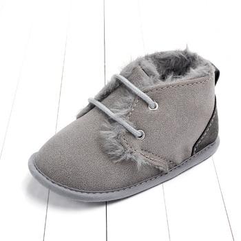 2020 Baby Girls Boys Winter Keep Warm Shoes First Walkers Sneakers Kids Crib Infant Toddler Footwear Boots Newborns Prewalkers - Gray, 13-18 Months