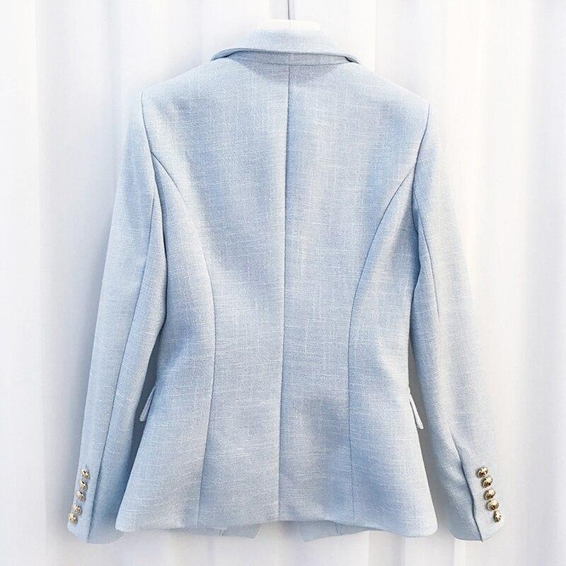 Couleur Blazer Double Or Veste Lion Baroque Boutons De Designer Date Métal Femmes 2019 Breasted p6xqxCwf