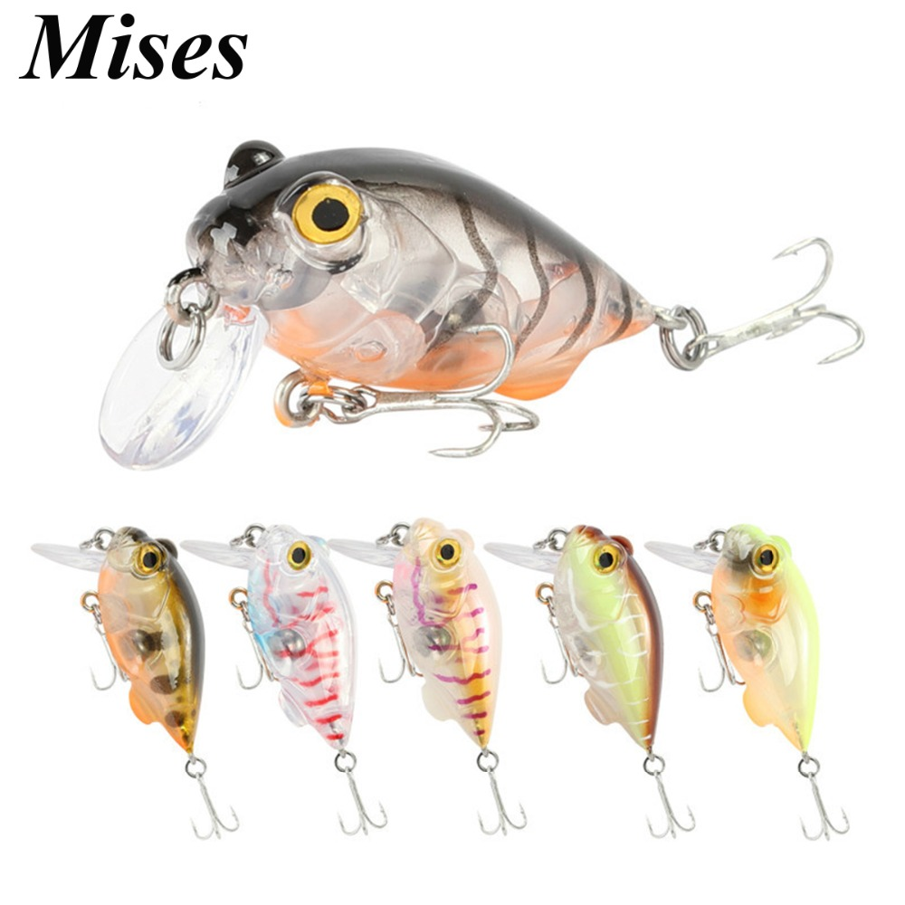 Mises 4cm 5g Six Colors Mini Diving Bionic Crank Little Fatty Lure Artificial Hard Bait Fishing Lure Professional Fishing Tackle