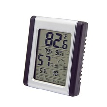 Indoor temperature and humidity meter, same screen display touch screen electronic thermometer and hygrometer electronic hygrothermostat etf 012 temperature and humidity adjustable hygrothermostat