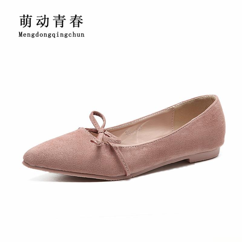 Bout Chaude Quatre Black Sur Glissent Femmes Ballerines Saison Appartements beigepink Noeud Chaussures De Pointu 2018 Mode Papillon gzWwqdz4