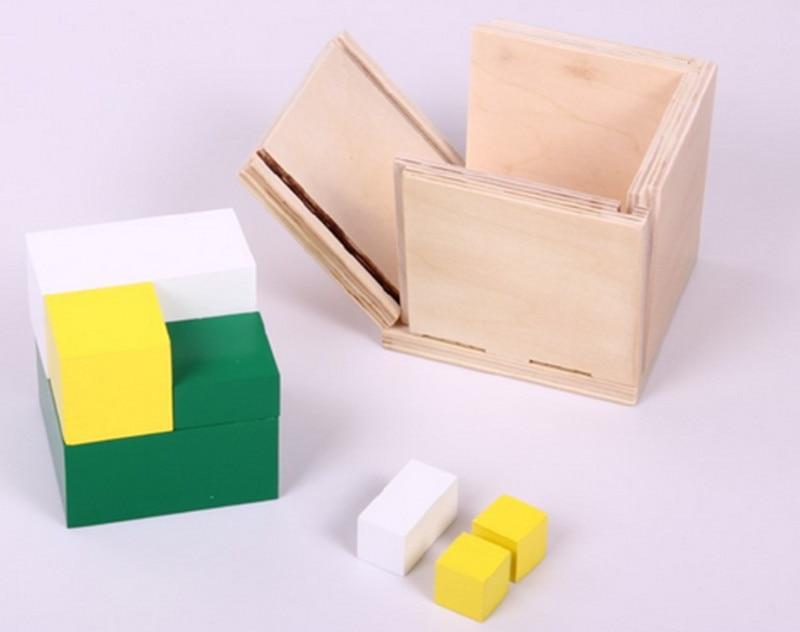 Juguete de madera para bebé Juguete Montessori Power of 2 Cube Math - Educación y entrenamiento - foto 1